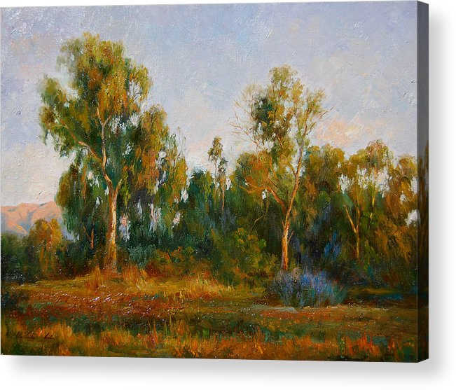 Landscape Acrylic Print featuring the painting Ulistac Natural Park C by Kelvin Lei