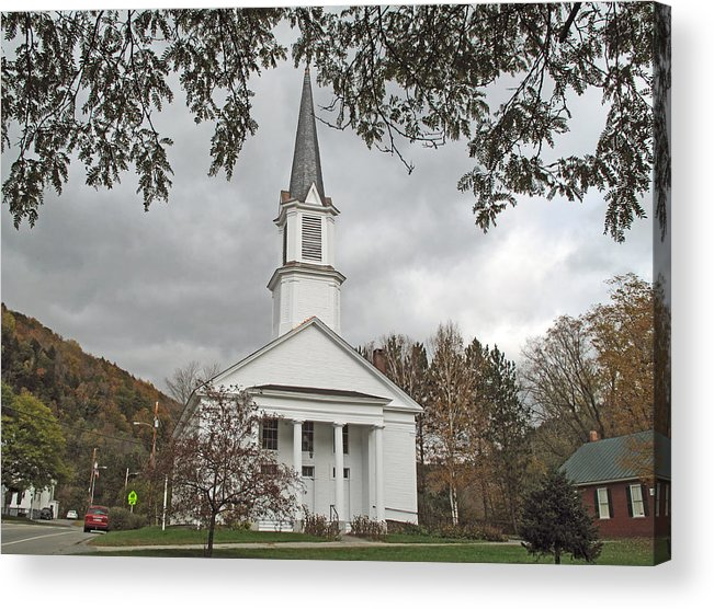 Church Acrylic Print featuring the photograph Vermont Church by Barbara McDevitt