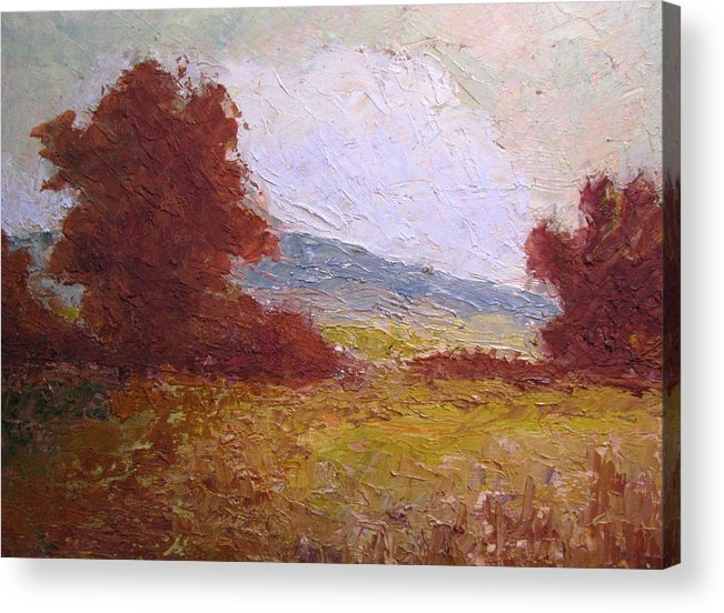 Western Landscape Acrylic Print featuring the painting Westward by Belinda Consten