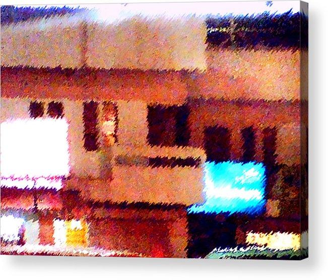 Digital Art Acrylic Print featuring the painting Windows by Anil Nene