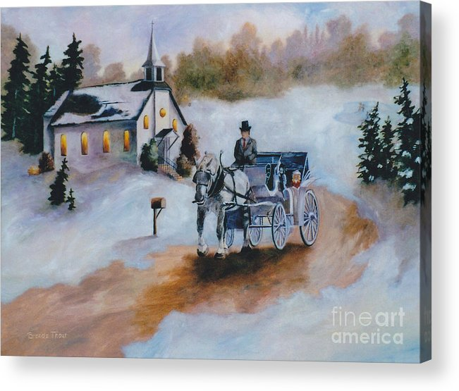 Winter Acrylic Print featuring the painting Winters Dream by Brenda Thour