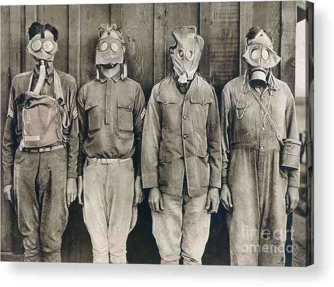 American Acrylic Print featuring the photograph World War I: Gas Warfare by Granger