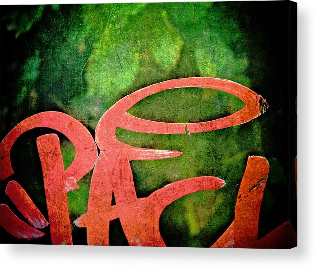 Abstract Acrylic Print featuring the photograph Writ Large by Odd Jeppesen