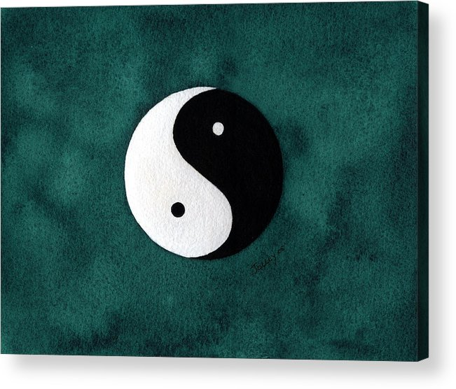 Yin-yang Acrylic Print featuring the painting Yin Yang by Stephanie Jolley