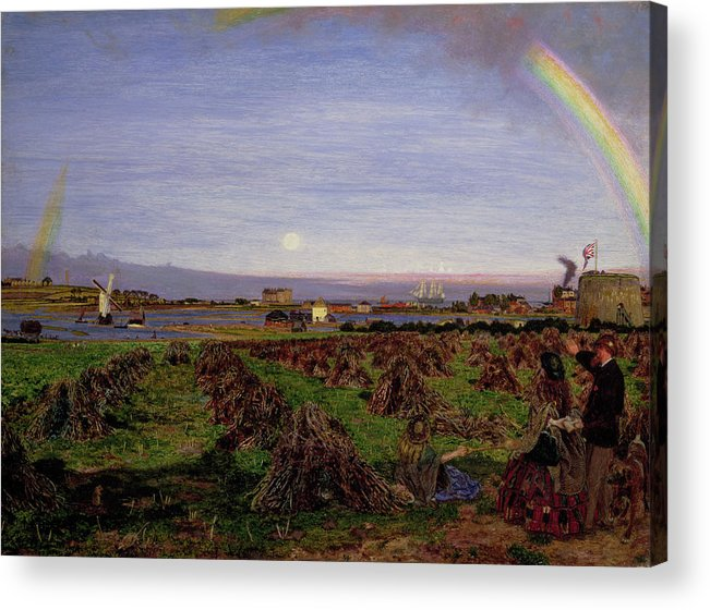 British Acrylic Print featuring the painting Walton-on-the-naze by Ford Madox Brown