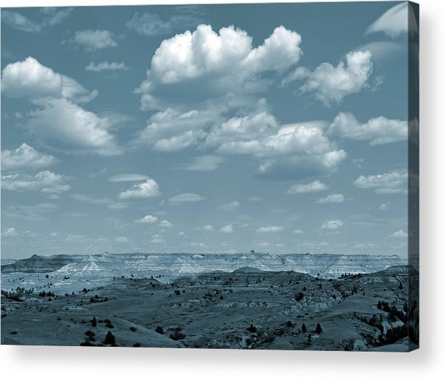 North Dakota Acrylic Print featuring the photograph Drifting Clouds And Shifting Shadows by Cris Fulton