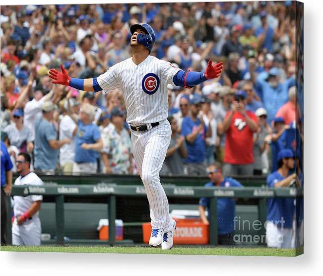 People Acrylic Print featuring the photograph Pittsburgh Pirates V Chicago Cubs by Quinn Harris