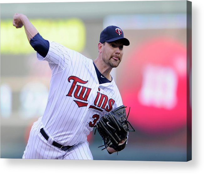 Game Two Acrylic Print featuring the photograph Mike Pelfrey by Hannah Foslien