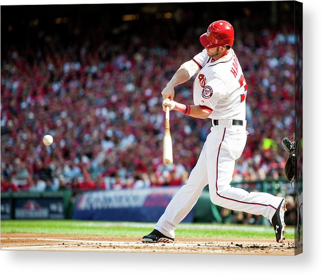 St. Louis Cardinals Acrylic Print featuring the photograph Bryce Harper by Rob Tringali