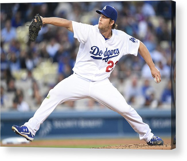 People Acrylic Print featuring the photograph Clayton Kershaw by Harry How