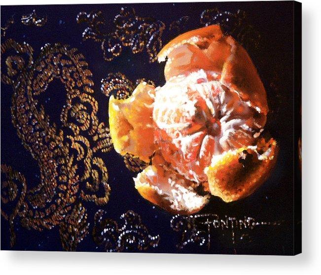 Mandarin Acrylic Print featuring the painting Mandarin by Dianna Ponting