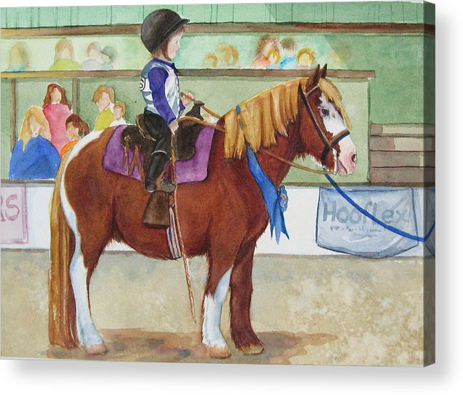 Equine Acrylic Print featuring the painting Blue Ribbon Day by Gina Hall