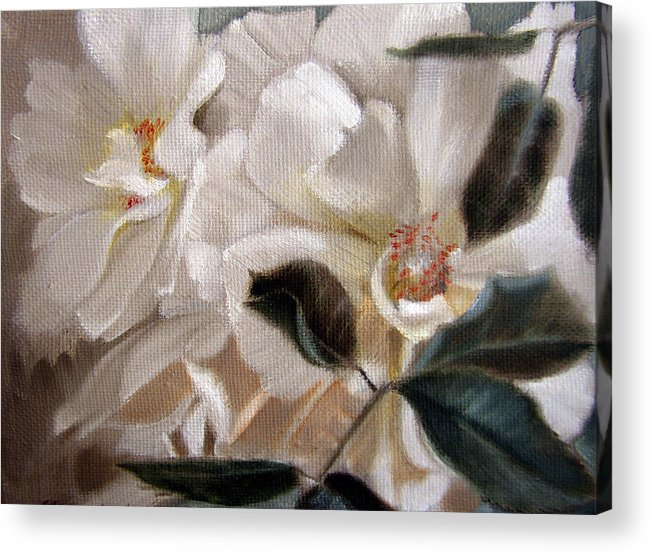 Floral Roses Acrylic Print featuring the painting Glow by Patrick McClintock