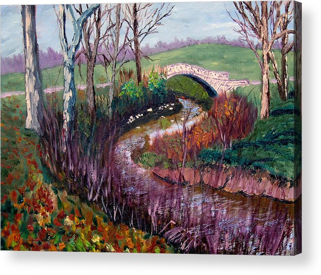 Landscape Acrylic Print featuring the painting Gp 11-22 by Stan Hamilton