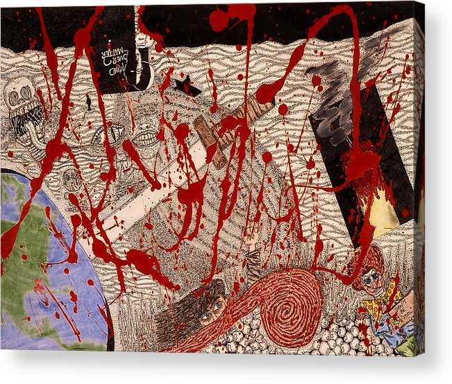 Abstract Acrylic Print featuring the print Me Against The World by William Watson