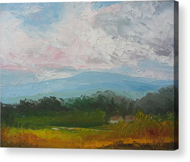 Landscape Acrylic Print featuring the painting Summertime by Belinda Consten