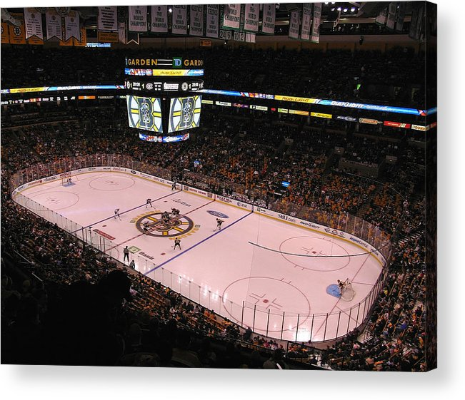 Boston Acrylic Print featuring the photograph Boston Bruins by Juergen Roth