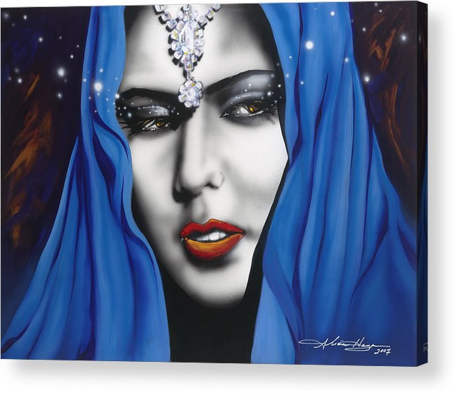 Women Acrylic Print featuring the painting Desert Moon by Alicia Hayes