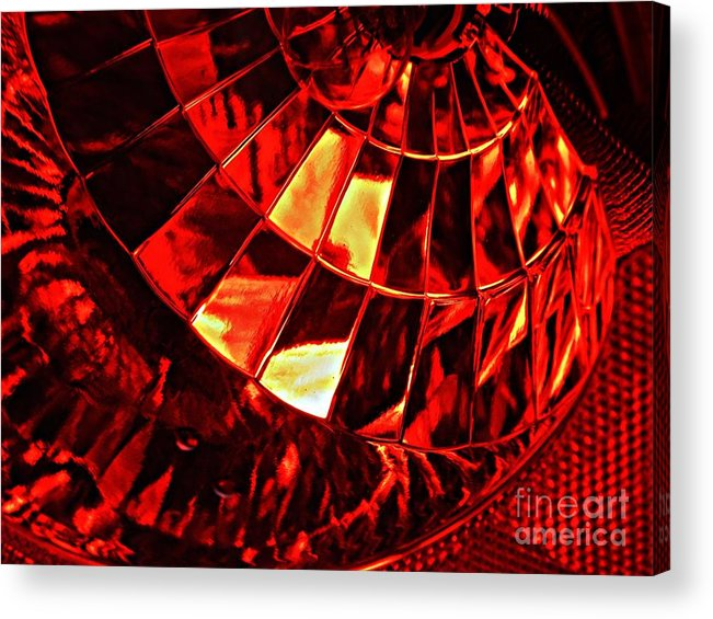 Glass Acrylic Print featuring the photograph Brake Light 12 by Sarah Loft