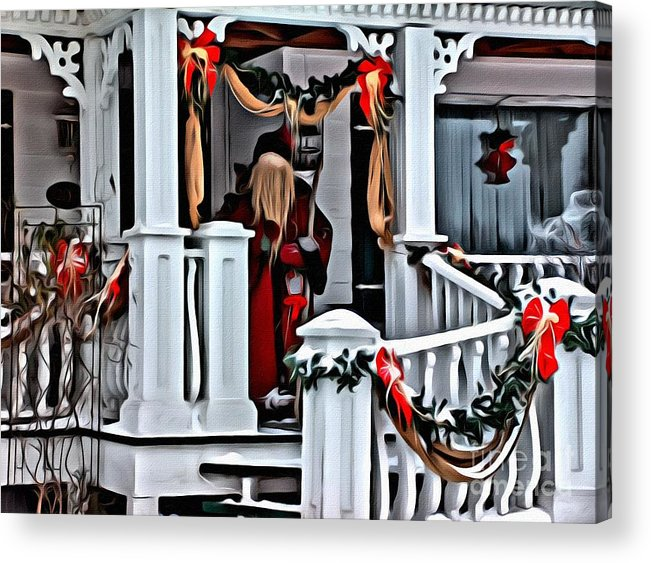 Santa Claus Acrylic Print featuring the photograph 9232 by Charles Cunningham