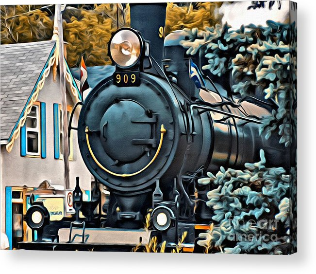 Wakefield Train Acrylic Print featuring the photograph 9266 by Charles Cunningham