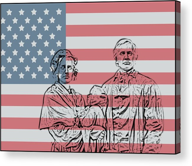 American Patriots American Patriot Acrylic Print featuring the photograph American Patriots by Dan Sproul