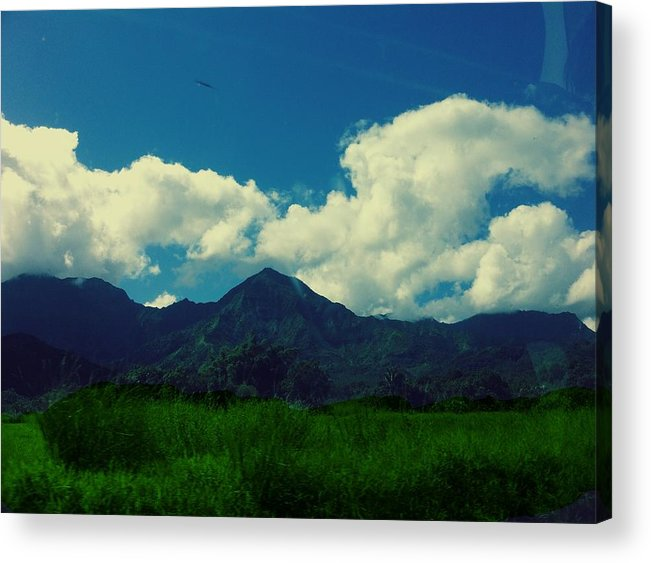 Beautiful Blue Sky Mountain Photography Wallpaper T-shirt Pillow Case Iphone Case Samsung Galaxy Case Poster Cards Metal Frame Poster Acrylic Print featuring the photograph Beautiful Mountain White Could.. Blue Sky by Tshering Sam