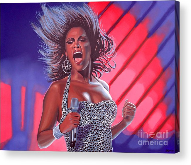 Beyonce Acrylic Print featuring the painting Beyonce by Paul Meijering