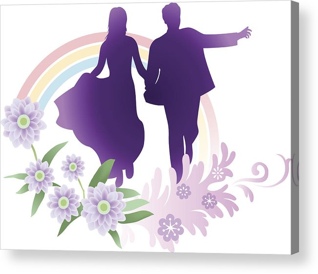 Miraculous Bride And Groom Running Acrylic Print Download Free Architecture Designs Scobabritishbridgeorg