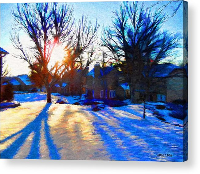 Cold Acrylic Print featuring the painting Cold Morning Sun by Jeff Kolker