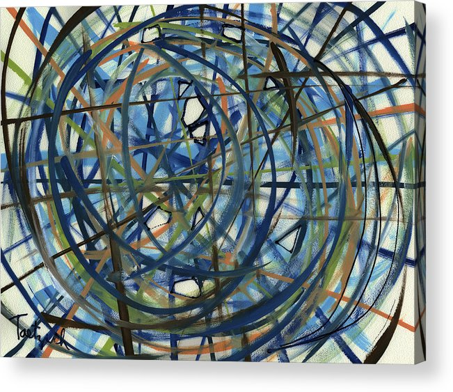 Contemporary Acrylic Print featuring the painting Contemporary Art Seventeen by Lynne Taetzsch