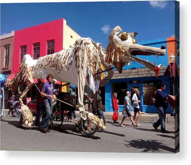 Monsoon Puppets Acrylic Print featuring the photograph Coyote On Parade by Feva Fotos