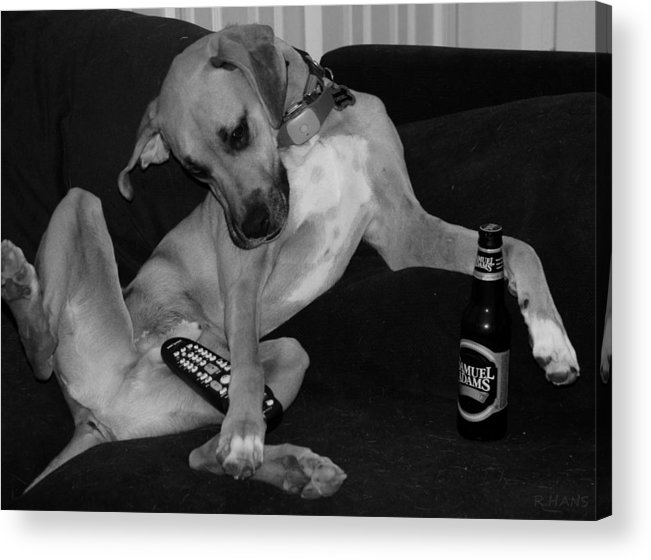 Black And White Acrylic Print featuring the photograph Diesel In Black And White by Rob Hans