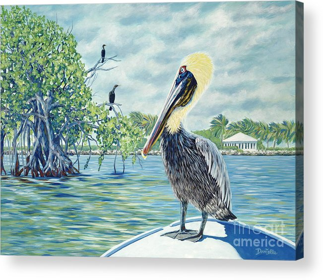 Key Largo Acrylic Print featuring the painting Down In The Keys by Danielle Perry