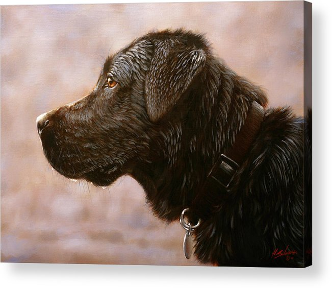 Lab Acrylic Print featuring the painting Fixed Gaze by John Silver