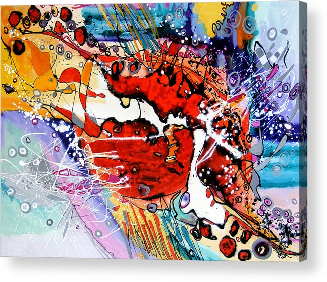 Acrylic Print featuring the painting Frumoasa Si Bestia by Elena Bissinger