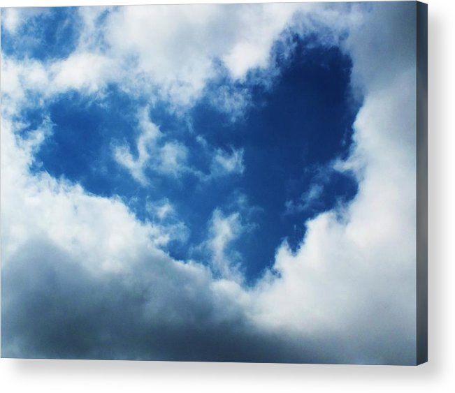 Cloud Acrylic Print featuring the photograph Heart In The Sky by Anna Villarreal Garbis