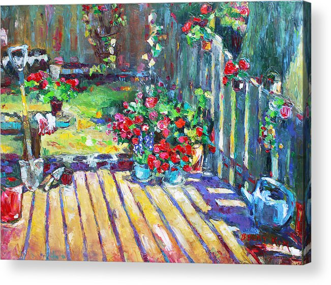 Landscape Acrylic Print featuring the painting Home Where True Beauty Is Planted by Becky Kim