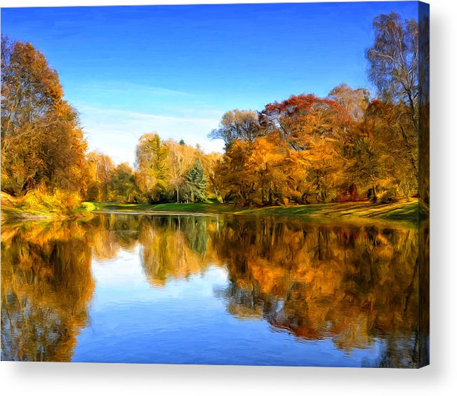 Stillness Acrylic Print featuring the painting In The Stillness by Dominic Piperata