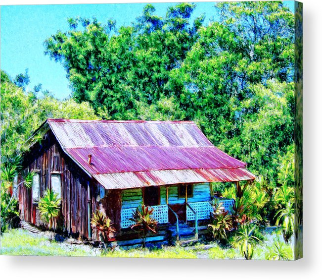 Kona Coffee Shack Acrylic Print featuring the painting Kona Coffee Shack by Dominic Piperata