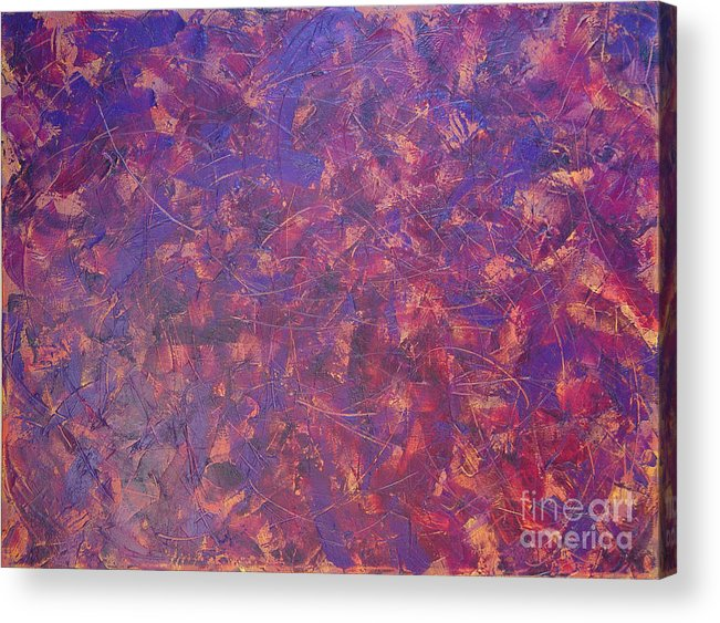 Abstract Acrylic Print featuring the painting Long Beach 5am by Dean Triolo