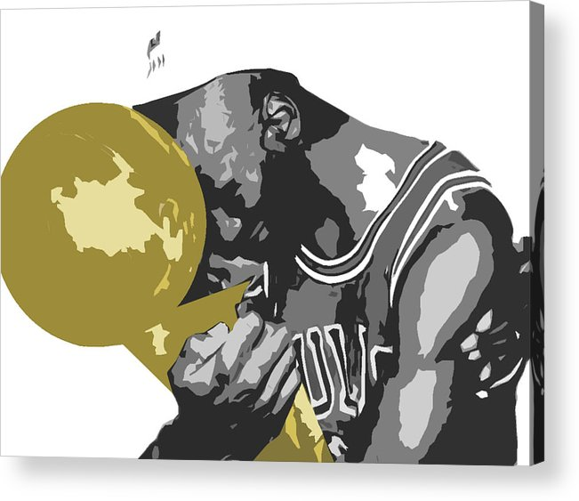 Chicago Acrylic Print featuring the digital art Michael Jordan by Mike Maher