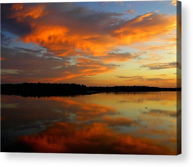 Sunset Acrylic Print featuring the photograph Morning On The Lake by Ronald Goode