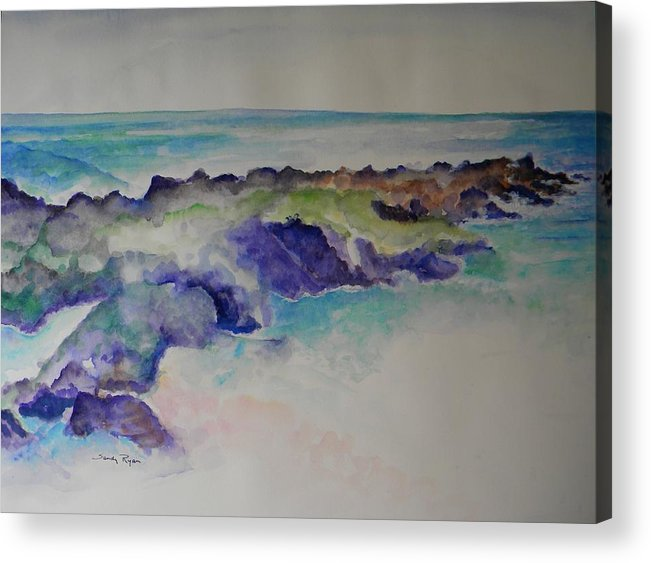 Beach Acrylic Print featuring the painting Morning Surf by Sandy Ryan