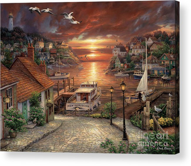 Million Dollar Art Acrylic Print featuring the painting New Horizons by Chuck Pinson