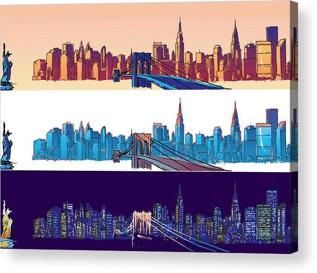 Ny Acrylic Print featuring the digital art New York City - All Day by Sam Shacked