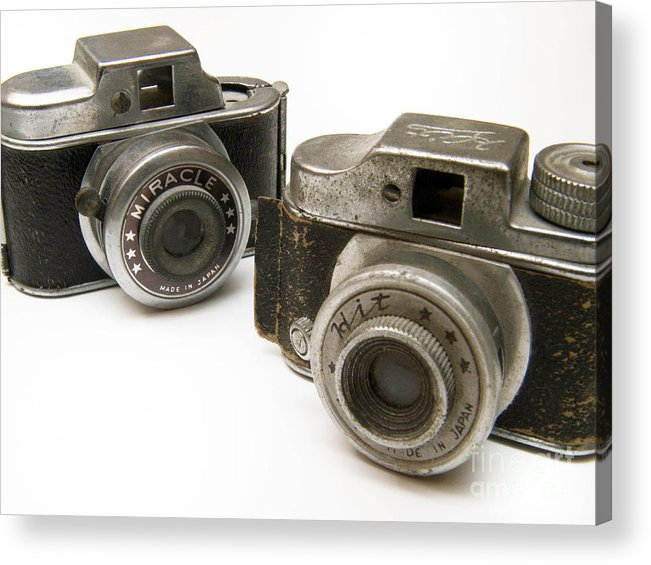 Antique Acrylic Print featuring the photograph Old Toy Cameras by Amy Cicconi