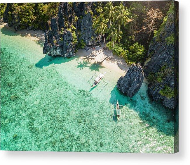 Palawan El Nido Entalula Island Beach Philippines Acrylic Print