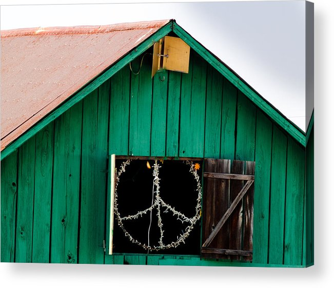 Bliss Acrylic Print featuring the photograph Peace Barn by Bill Gallagher