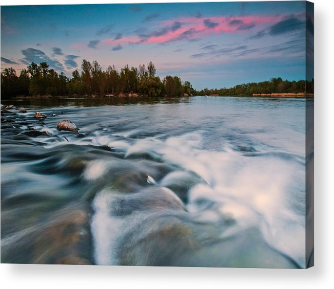 Landscapes Acrylic Print featuring the photograph Peaceful Evening by Davorin Mance